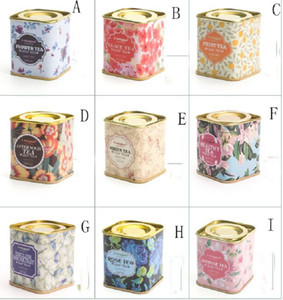 NEW Metal Portable vintage Tea Tins Lids Container Gifts Boxes for wedding birthday company gift package GWD5362