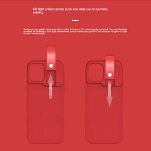 Selfie Light Tragbare Handyhülle für iPhone 12 Pro Flash LED Selfie Ring Fill Light Back Cover für iPhone 12 Pro New Case 4 Farben