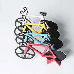 Bicycle Pizza Rutter Dual Нержавеющая сталь Велосипед Пицца Резака Пицца Инструмент Нож Выпечки Кухонные Инструменты Подары Творческие Кухня Инструменты HWC5580