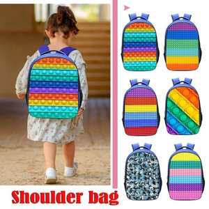 Backpack Style 3D Print Rainbow Push Bubble Laptop Book Bag Schoolbags Family Game Rucksack For Teenager Squeeze Toys
