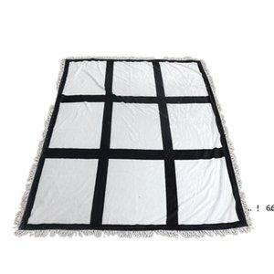 newSublimation Blanket White Blank Blankets for Sublimation Carpet Square Blankets for Sublimating Theramal transfer Printing Rug EWE6093