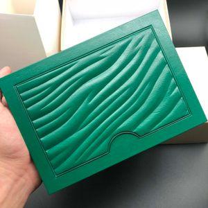 2021 Оригинальные правильные подходящие бумаги для защитных карт подарочной сумки верхний зеленый деревянный вахта для часов для Rolex Boxes Booklets Часы Печать пользовательских карт