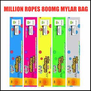 Million cordes 800mg Mylar Sac Emballage vide Emballage Bord Scelling Sac Film Packages de nourriture 5 Types