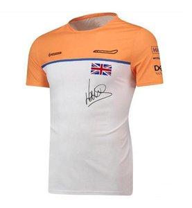 F1 Fórmula uno Traje de carreras Camiseta de manga corta Traje de equipo 2021 F1 Camisa Deportes Ocio Cuello redondo Secado rápido Camiseta Top
