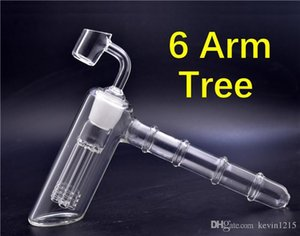 1pcs Glass Hammer Bongs 6 Arm perc Percolator Smoking pipes bubbler Glass Water bongs with 4mm Buckets Quartz banger Nail
