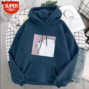 oversized print Kangaroo Pocket Sweatshirts Hoodies Hooded Harajuku Spring Casual Vintage Korean Pullovers Women sweetshirts #331G