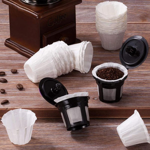 Filtros de café de papel descartáveis, Keurig K Cup Filtros de papel para copos reutilizáveis de cerveja única, pods de café K-copo-abux