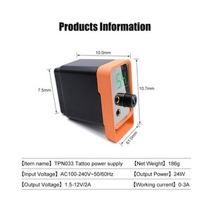 Biomaser New Tattoo Power Supply For Tattoo Machines Touch Screen Source TP-5 Digital LCD Makeup Dual Tattoo Power SuppliesRabin
