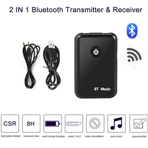 2-IN-1 Chargeable Bluetooth 4.2 Transmitter Receiver Wireless 3.5mm Audio Adapter RX TX Home TV Stereo