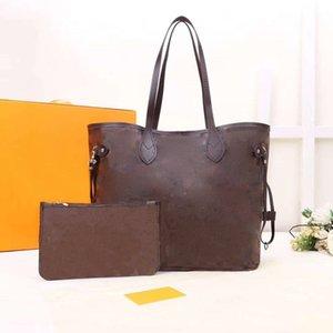 Высококачественные дизайнеры кожаные сумки женские сумки на ремне с кошелькой составной сумкой кошелька леди сумки 2 шт. / Набор M40156