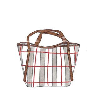 Luxury Classic Design Plaid Bag Business Commuter Tote One-shoulder Portable Shopping Package High Quality Boston Casual Handbag