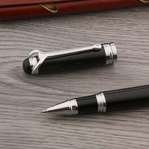 Ballpoint Pens High Quality 710 Ball Point Metal Tauren Black Silver Stationery School Student Office Rollerball Ink