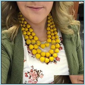 Beaded Necklaces & Pendants Jewelrywomen Color Bead Collarbone Chain Suits Necklace Graduated Exaggerated Mtilayer Clavicle Sir Jewelry Beac