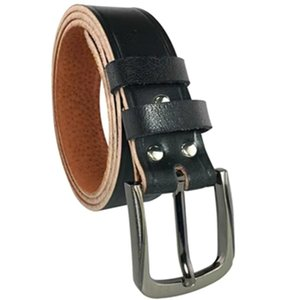 Alloy Men's Handmade Pure Pig Vintage Leather Pin Buckle Electrician Belt