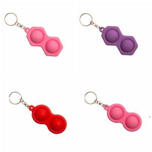 Anahtarlık Fidget Basit Demple Oyuncak Üçgen Anahtarlık Kolye Renkli Basınç Rölyef Araba Anahtarlık Süsler Hediye Anahtar Zincirleri HWB5033