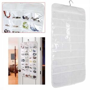 Wall Door Closet Fine Jewelry Accessory Hanger Organizer Ear Ring Necklace Bangle Storage Roll Bag Pouch Canvas 72 Pockets