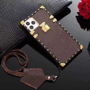 Cajas de teléfono de diseñador Funda de célula de moda PU Cuero de alta calidad Cuerpo completo Protector para iPhone 12 Pro Mini 11 XR XS MAX 7/8 PLUS SAMSUNG S20 S10 Note 8 9 10