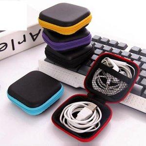 سماعة الأذن بو الجلود سماعات الأذن الحقيبة البسيطة سستة سماعة مربع واقية USB كابل المنظم تململ أكياس التخزين سبينر LLS570