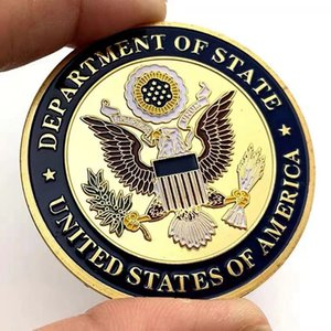 20pcs Crafts USA Department Of State Embassy Paris France Tower Souvenir Challenge Gold Plated Collectible Coin