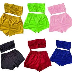Womens outfits summer two piece set tracksuit jogger sport suit strap top+short leggings outfits sweatshirt pants sport suit klw6133