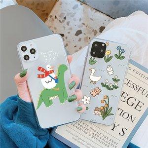Lustige nette Ente-Telefonkasten für Huawei p40 P30 P20 Lite Mate 30 Pro 20 P Smart Nova 5T für Ehre 20 10 8x 9x V20 Soft Rückenabdeckung