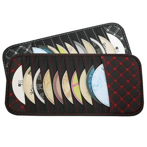 Keyboards DVD Storage Case Car Sun Visor CD Disc Holder Pouch Bag Vehicle Organizer Auto Interior Accessories