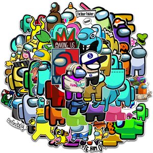 100 pieces of Among Us game graffiti stickers luggage mobile phone computer water cup decorative stickers waterproof