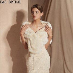 Wraps & Jackets H&S BRIDAL Warm Faux Fur Stoles Wedding Wrap Winter Bolero Jacket Accessories