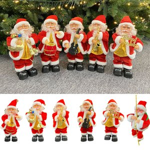 Christmas Decorations Santa Claus Celebrates Band Group Battery Music Dancing Doll Children's Toys New Year Gifts w-00949