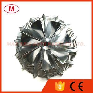 K04 50.33 72.60mm 7+7 blades Performance Turbo Billet compressor wheel Aluminum 2618 Milling wheel for turbocharge Cartridge CHRA Core