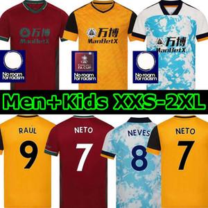 2021 Neto 7 Terzo Wolverhampton Soccer Jerseys Wolves Fàbio Silva 20 21 Vitinha Raul Neves Kit di calcio Wanderers Adama Shirt Uomini bambini Set