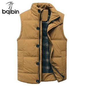 Men's Vests Thick Warm Winter Vest For Cotton Men Autumn Male Casual Hot Solid Button Sleeveless Jacket Classic Mens Travel Brand Waistcoat