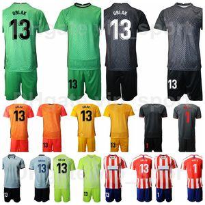 Portiere GK 20-21 Portiere Soccer 13 Jan Oblak Jersey Set 1 Miguel Angel MOYA 1 Antonio ADAN Color Color Football Shirt Kit Uniform MJ