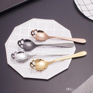 Suck Stainless Coffee Spoons Sugar Skull Tea Spoon Dessert Spoon Ice Cream Tableware Colher Kitchen Accessories LXL1119-1