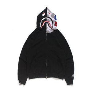 APE APE Couleur Contraste Shark Head Street Casual Coat