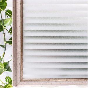 Imitation Shutter Electrostatic Non Glue Glass Film Office Home Window Sticker Simple Style Transparent Opaque