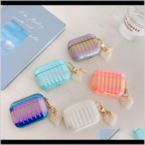 Rainbow Suitcase Earphone Case For Airpods 2 Pro Cases Love Heart Keychain Hard Pc Protective Cover For Airpod 2 3 Air Pods Case Hoemw Ec7St