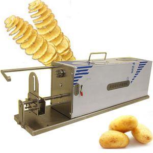 Végétières Slicer Slicer Machine en acier inoxydable Spirale Potato Machine automatique Tornade Tornado Pommes de terre Coupeur Outils de cuisine