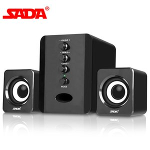 SADA D-202 Combination USB Wired Computer Speakers Bass Stereo Music Player Subwoofer Sound Box PC Smart Phones