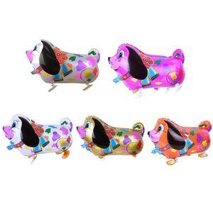 Ходьба любимчика воздушных шаров животных гелиевый алюминиевый мультфильм алюминиевая пленка воздушные шары многоцветные прекрасные лесные животные воздушные шар на день рождения свадьбы 227 S2