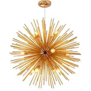 Nordic Led Aluumminum Dandelion Chandelier Luster Sputnik Hanging Lamp Fixture Creative Luster Cafe Home Restaurant Decontanza