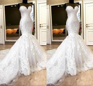 2021 Amazing Mermaid Wedding Dresses Expensive Lace Beaded Sweetheart Lace-up Wedding Dress Guest Long Train Bridal Gowns Vestidos De Novia