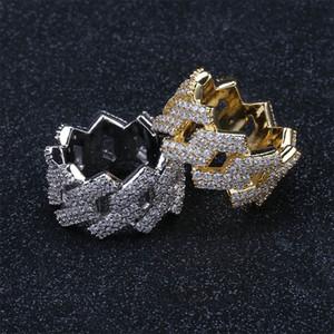 Ring Hop Rhombic Rock Punk Rock Hip Hop Trendy Jewelry Hombre Anillos Oro Plata Color Adornos