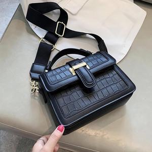 Crocodile Pattern Small Tote Bag 2021 Fashion New High Quality PU Leather Women's Designer Handbag Travel Shoulder Messenger Bag