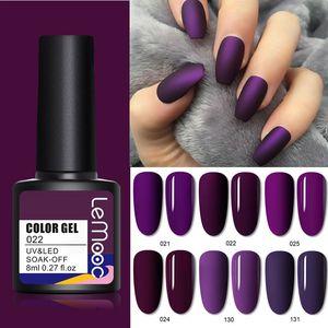 136 Colors LEMOOC 8ml Gel Nail Polish Long Lasting Soak Off UV Gel Matte Top Coat Needed