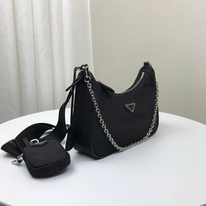 Re-edição 2005 designers de nylon bolsas de ombro de alta qualidade bolsa de couro bolsa senhora saco de luxo de luxo da senhora #