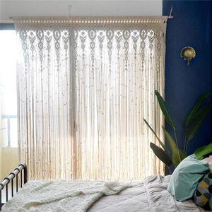 Blinds Wall Hanging Curtain Tassel Tapestry Handmade Large Boho Door Window Home Bedroom Living Room Ornaments 90x180 100x200cm