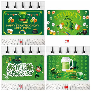 6x4ft St. Patrick's Day Banners Baby Shower Backdrop Lucky Shamrock Baby Shower Party Decoration Irish Luck Day Party Banner DHF4920