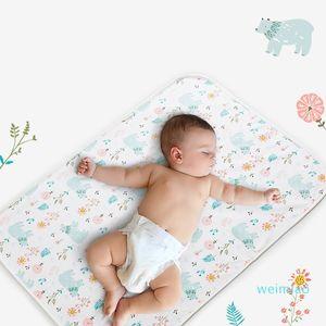 Cartoon Baby Mat Soft Cotton Large Diaper Changer For Newborn Waterproof Changing Pads Mattress Floor Play Mats 210312