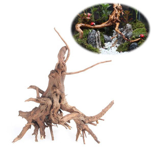 1 Pcs Wood Natural Trunk Driftwood Tree Aquarium Fish Tank Plant Stump Aquarium Fish Tank Ornament Landscaping Decoration